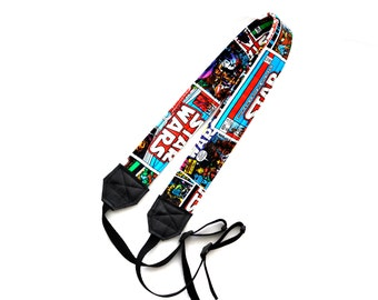 Retro Style Star Wars dSLR Camera Strap! Reversible! This is a full strap with buckles NOT a camera strap cover!