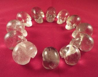 12 Natural Citrine Crystal Skull Healing and Activation Set 'Brazil'