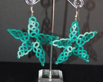 Tatting handmade earrings