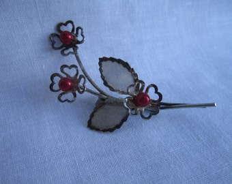 Perfect 1960s floral spray brooch