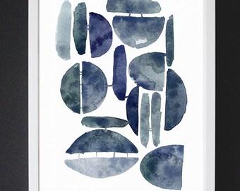 Density - Watercolor Art Print