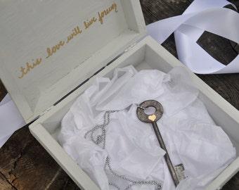 Personalized gift box wood keepsake box wedding gift box