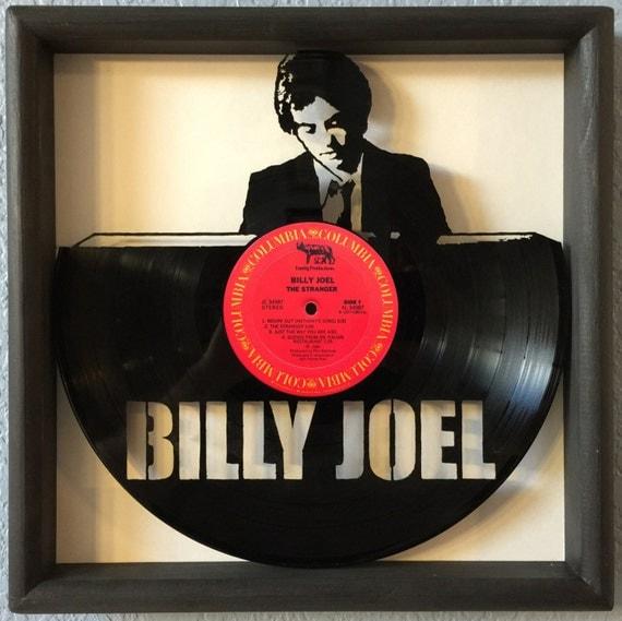 """Greatest Hits Vols 1 2 Billy Joel: Billy Joel """"The Stranger"""" Cut Framed Vinyl LP Record Art"""