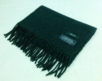 100% Lambswool by Comme Ca Ism Scarf Black Neck Wrap Made In Italy