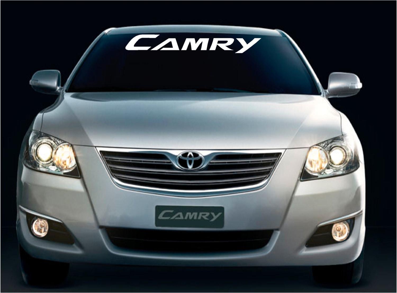Car visor sticker designs - Camry Vinyl Decal Sticker Window Windshield Banner