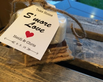 S'More Kits, S'More Favors, Wedding Favors, S'More Bridal Shower, Party Favors, Wedding Favors