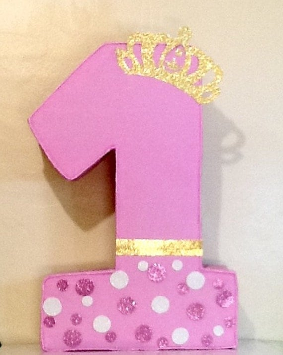 crown pinata first birthday girl pinata pink and gold. Black Bedroom Furniture Sets. Home Design Ideas