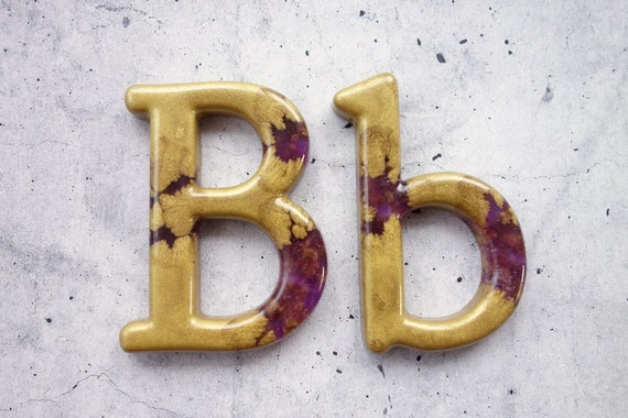 The Letter B Wall Decor : Decorative letter b wall decor handmade resin by