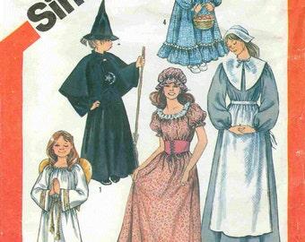 SALE Little Girls Costumes, Vintage Pattern Simplicity Pattern 5741   Sizes 2-4.