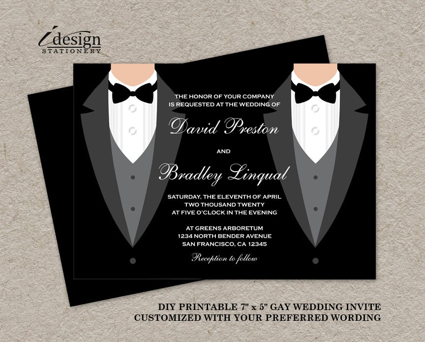 gay wedding invite | etsy, Wedding invitations