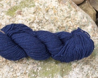 Border Leicester DK weight yarn-Navy Blue