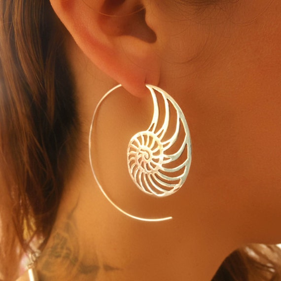 silver earrings silver spiral earrings gypsy earrings. Black Bedroom Furniture Sets. Home Design Ideas