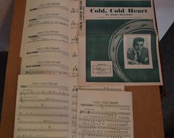 """22 Pgs. """"Cold Cold Heart"""" By Hank Williams = Sheet Music"""