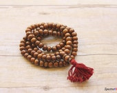 108 Stained Bone Mala - Stained Chocolate Brown - Jewelry Making Supplies - Mala - Spiritual Jewelry - 10mm x 8mm - Full Strand - Guru Bead