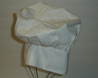 Vintage Deadstock NOS White Chef Hat Adjustable Size Adult- Will Customize