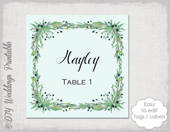 Favor tag label template wreath rustic by for 2x2 label template