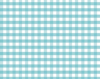 Gingham, Medium - Aqua by Riley Blake Designs (C450-20) Fabric Yardage