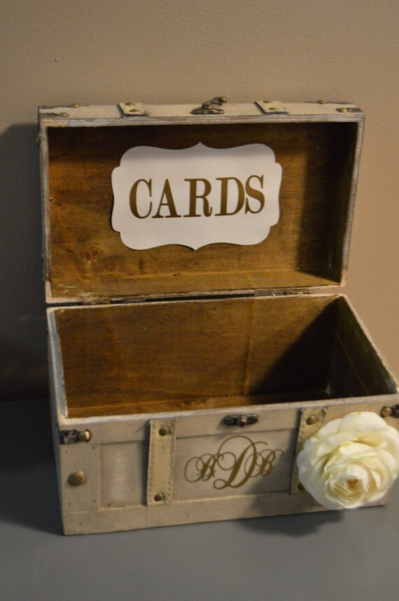 Medium Vintage Wedding Card Box Holder Medium Rustic Wedding – Vintage Wedding Card Box