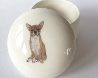 Small Chihuahua Trinket Box
