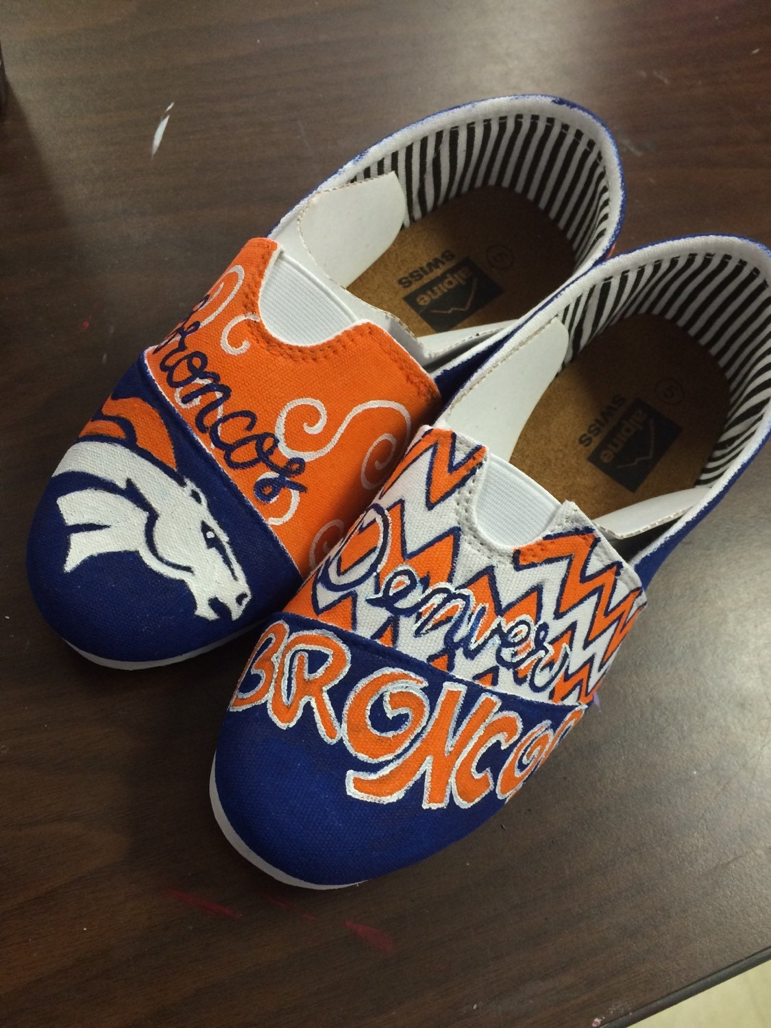 sports team shoes custom painted by pictureworth1000word
