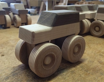 Handcrafted wood Monster trucks