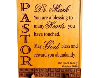 Gift to Pastor, Custom Reverend Appreciation Gift,  Personalized Pastor Gift, Gift for Pastor From Family,Pastoral Anniversary. PLP050