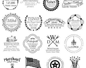 Return Address Stamp, Personalized Stamp, Custom Stamp, Rubber Stamp, Personalized Stamp, Return Address Stamp, Wedding Gift, Shower Gift