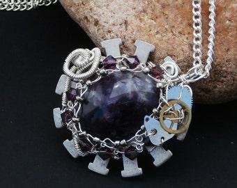 Amethyst Steampunk Necklace