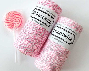 Pink Bakers Twine, Hot Pink Twine 240 Yards, Raspberry String