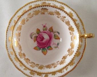 Pink Rose Royal Chelsea China Tea Cup & Saucer