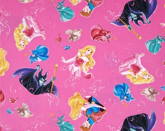 Sleeping Beauty Print 100% Cotton Fabric by the yard