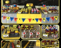 Transformers Printable Birthday Party Package - Bumblebee Birthday Set - Invitation, cupcake toppers, banner...