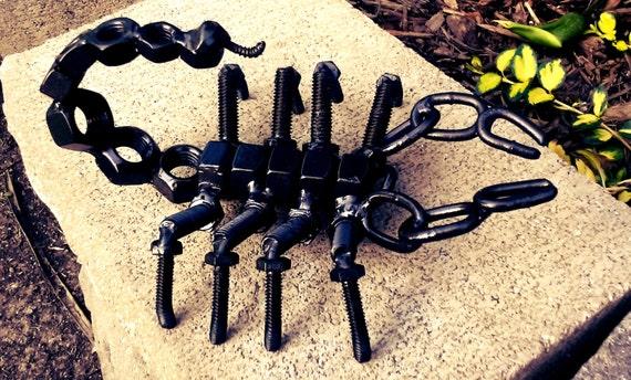 scorpio metal sculpture scorpion metal figure by alexmetalart