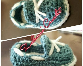 Crochet Baby Loafer, Baby Tied Loafer