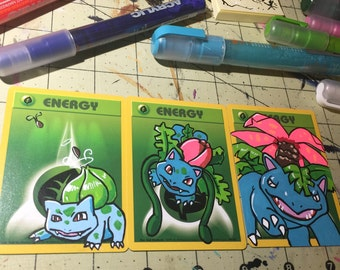 Painted Pokemon Card Commission
