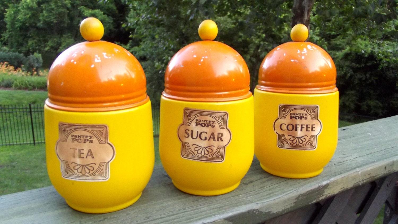 canister sets orange images orange kitchen canisters ebay