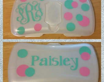 Personalized Diaper Wipes Case