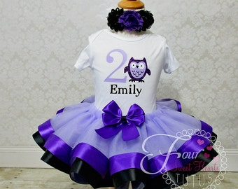 Owl Birthday Outfit, Girls First Birthday Outfit, Look Who's Turning One Outfit, Owl Tutu Outfit, Girls Birthday Dress, Girl Birthday Outfit