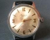 Reserved for Eric- Raketa Soviet watch Russian watch  Vintage Watch for him - Men watch Mechanical watch watch - montre raketa- Leather band