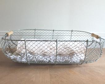 LARGE Wire Laundry Basket, French Wire Basket, Farmhouse Antiques, Antique  Baskets, Clothes