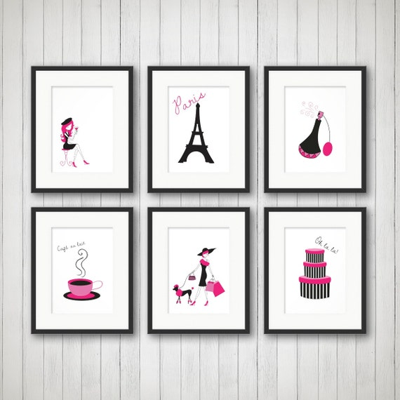 Paris Decor Teen Room Decor Fashion Print Fashion Art