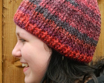 Crocheted Beanie In Red