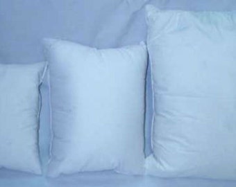100% White Hungarian Goose Down Pillows 700 Fill Power No Feather Stems, Zippered Pillow Protector
