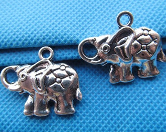 22mmx*28mm Antique Silver tone Filigree Elephant Pendant/Hanging Charm/Finding,DIY Accessory Jewellry Making