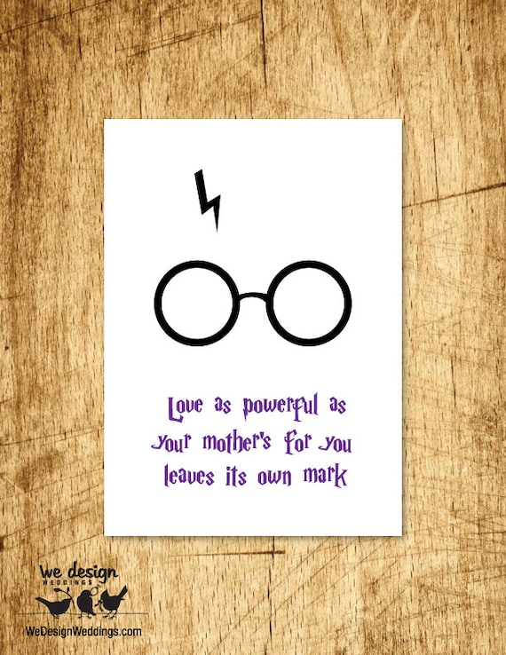 Custom Card Template standard greeting card size template : Printable - Harry Potter saying / quote - Motheru0026#39;s Day Card. DIY ...