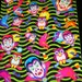 LISA FRANK stickers  S195 Halloween Vampire, Owls, and Bats full sticker sheet Hard To Find