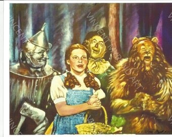 Wizard of Oz PRINT 8x10 by Artist Vincent Myrand ART