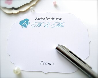 Wedding advice cards, guest book cards, advice cards, wedding wishes cards, wedding decor, wedding game cards, comment cards - 30 count(ac5)