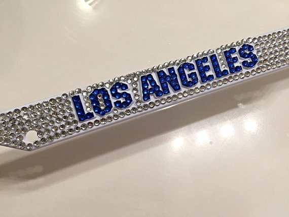 sports license plate frame bling