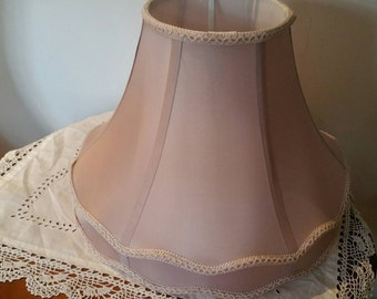 Vintage Satin Lamp Shade In Move Lined And With Tilting Mechanism